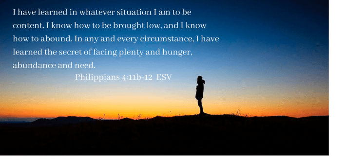 I cannot afford to live in discontentment; the price is too high. Contentment costs me little, and the reward of inner peace with God and man is priceless beyond measure.