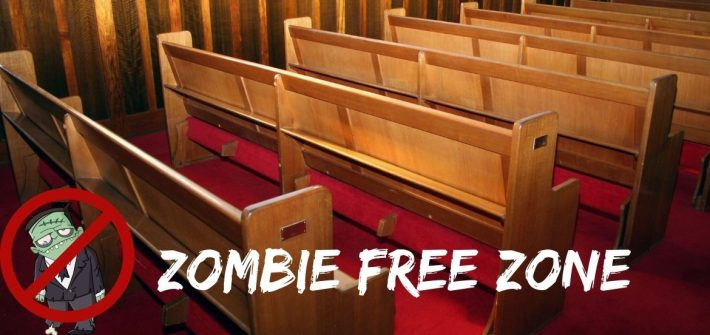 There are no zombies in God's Kingdom. Don't fall for the enemy's lies, your old man is dead, long live the new creature.