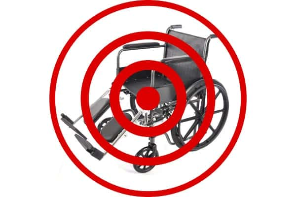 Do you see the visibly disabled only as target practice? Are they only potential notches in your healing belt? Or do you see the person in the wheelchair as someone who deserves to be respected?